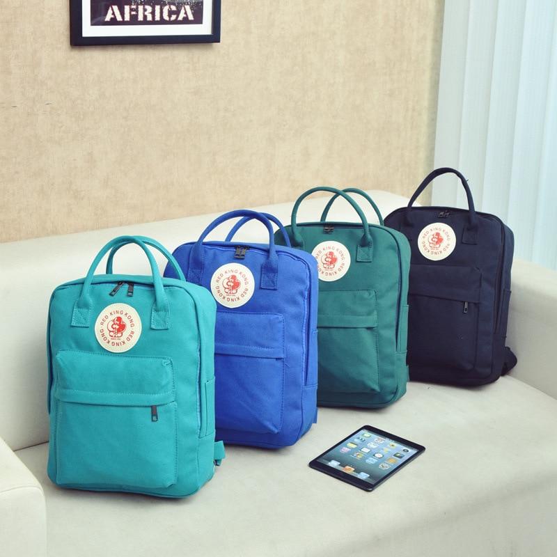 2017 New Korean Badge Monkey Canvas Backpack Women Preppy Style Letter Backpack Students multy-purpose School Backpack<br><br>Aliexpress