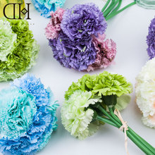 DH Carnation decorative artificial flower bouquet for wedding accessories decoration flowers Home Decoration mother's day gift