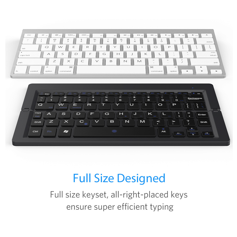 6 Folding Keyboard Bluetooth Wireless