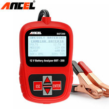 ANCEL BST-200 BST200 Car Battery Analyzer Diagnostic 12V 1100CCA Auto Battery Analyzer tester Multi-language Free Shipping(China)