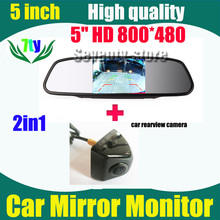 2in1 HD CCD reversing rear view Camera car parking camera + 5 inch 800*480 Car Mirror Monitor ,rear mirror monitor - shenzhen seventy-store store