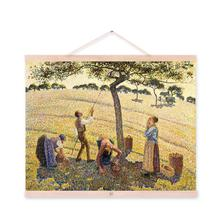 Pissarro Yellow Modern Impressionist Harvest Poster Prints Original Farm Landscape Canvas Oil Paintings Home Wall Art Decor Gift