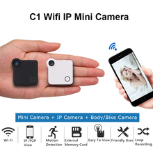 C1 Mini Camera Wifi P2P IP 720P H.264 HD Spied Camera Wireless Action Cam Bike Camera Mini DV DVR Camera Video Voice Recorder