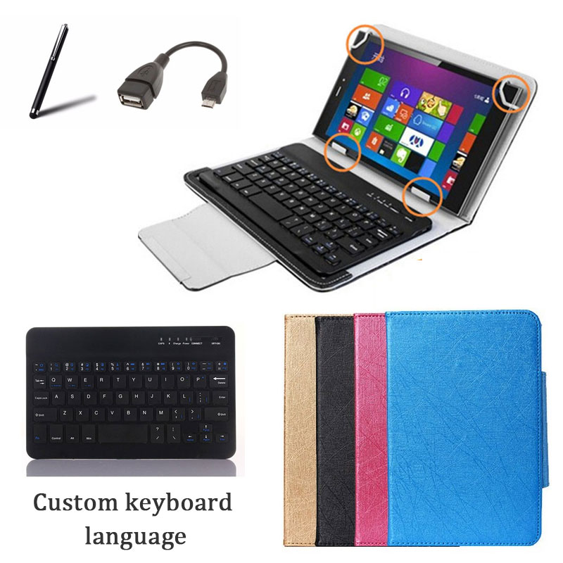 Universal Wireless Bluetooth Keyboard Case Stand Cover For LG G Pad 7.0 V400 Tablet Keybaord Language Custom + Free Gifts<br><br>Aliexpress