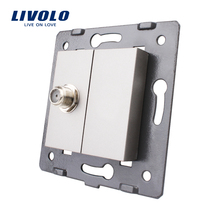 Free Shipping, Livolo Grey Plastic Materials,  EU  Standard, Function Key For Satellite TV Socket,VL-C7-1ST-15