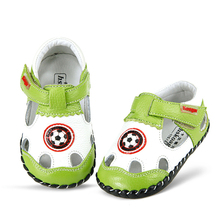 Leather Baby Moccasins Items Boy First Walkers Infant Boy Shoes Polo Original Football Boots Baby Toddler Footwear 503033(China)