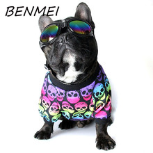 BENMEI Spring Summer Dog Printing Skull Pattern Colorful Vest Dog Cotton Shirt Puppy Fashion Pet Dog Tank Top Clothes(China)
