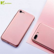 KL-Boutiques Phone Cases For iPhone 7 7Plus Luxury Silm Scrub Soft Back Cover For iPhone 6S 6 Plus Candy Color Sillicone Coque