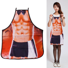 Hot Novelty Funny Kitchen Sexy Man Shorts Muscular Christmas Cooking Apron Party Bar Dress Cool Gift #84158(China)