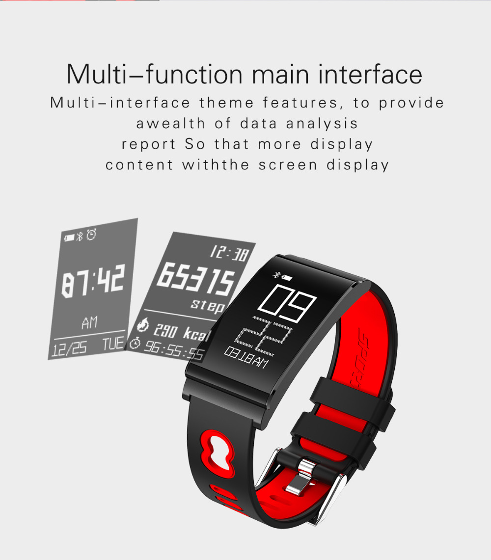 ALANTURING autumn new Bluetooth smart wristband SW102 fitness sleep tracker heart rate blood pressure oxygen monitor waterproof