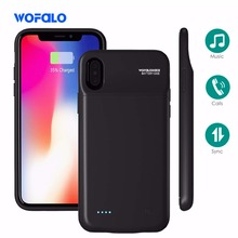 3200mAh Wireless Charging Portable Rechargeable Extended Power Bank Cover Charger Cases extended battery case for iphone x 10(China)