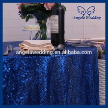 SQ027A Many colors available Custom made beaded metalic royal blue sequin table cloth