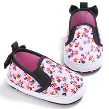 Sweet Baby Girls Cute Cartoon Animals Newborn Soft Soled Loafer Shoes Butterfly Princess Popular First Walkers Footwear Shoes(China)