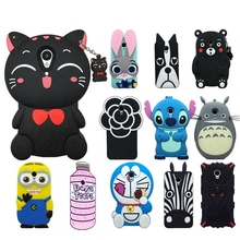 Lovely Cute 3D Cartoon Soft Silicon Cover For Meizu M3S Case Phone Cases For Meizu M3 S M3 Mini Rabbit Kitten Dog Stitch Case