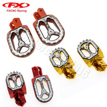 FXCNC CNC Footrest Aluminum Dirt bike Off Road  foot pegs 4 Colors Fit Honda CRF230 Footpeg Pedal Silver Gold Red Blue CRF230