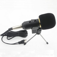MK-F200TL 3.5mm Audio Wired Sound Recording Condenser Microphone with Shock Mount Holder Clip For Gaming Video Chatting