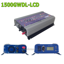 1500W lcd wind turbine grid tie inverter with dump load resistor,45-90V DC wind turbine one grid inverter