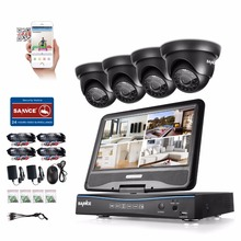 SANNCE 8CH 4 in 1 TVI AHD HDMI DVR 720P 1.0 MP IR Outdoor Weatherproof CCTV Camera Home Security System Video Surveillance Kits(China)