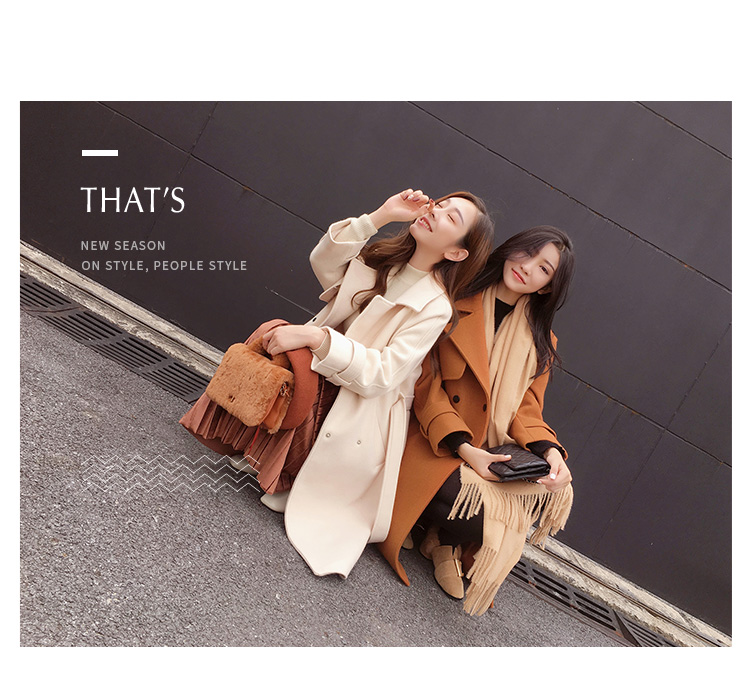 Mishow 19 autumn and winter woolen coat female Mid-Long New Korean temperament women's popular woolen coat MX17D9636 29