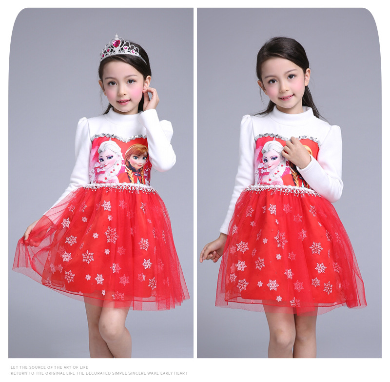 Customs New Arrived GirlS Princess Dress Elsa Anna Kids Wedding Party Dresses For Baby Children Dresses <br>