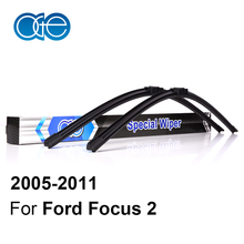Oge Wiper Blade For Ford Focus 2 2004 2005 2006 2007 2008 2009 2010 2011 High Quality Natural Rubber Car Accessories(China)