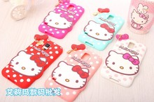 Fashional new arrival cute cartoon soft silicon material Heart-shaped Hello kitty cover Case for samsung Galaxy S5 i9600 case