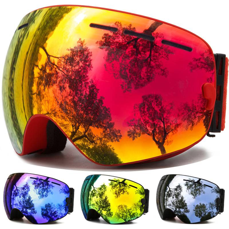 Ski-Goggles Interchangeable Uv-Protection Anti-Fog Snow Winter Men Women with for Youth title=