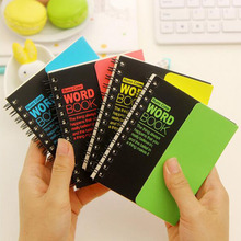 Cute Fluorescence Color Notebook Hard Copybook English Vocabulary Book School Office Supplies Daily Notepad