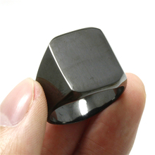 1pc Boys Mens 316L Stainless Steel Cool Black Polishing Ring Biker Ring Factory Price(China)