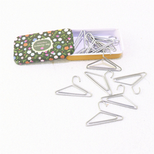 12pcs/lot hanger Shape Paper Clips Creative Interesting Bookmark Clip Memo Clip Shaped Paper Clips for Office School Home H0069
