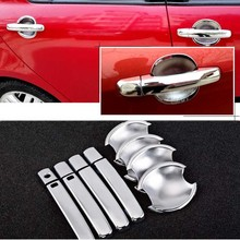 New Non-Rusty Chrome Door Handle Bowl Cover Cup Overlay Trim For Suzuki Swift