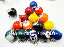 16pcs/set mini ball Pool Billiards snooker table ball keychain the same material as the real BILLIARDS gift wholesale(China)