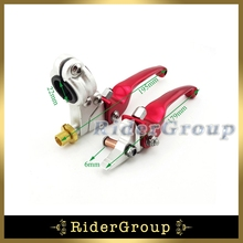 Red Alloy Handle 7/8'' Brake Clutch Lever For Pit Dirt Motor Bike XR CRF KLX SSR Taotao Lifan Thumpstar BBR Kayo Chinese(China)