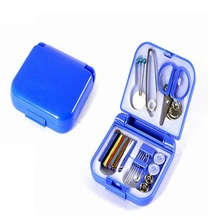 2017 New Hot Portable Mini Travel PP Sewing Box With Color Needle Threads Sewing Kits Sewing Set DIY Home Tools(China)