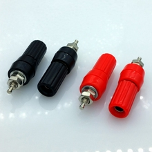 4Pcs/Lot Speaker Amplifier Terminal Binding Post 4mm Banana Plug Socket Female Connector