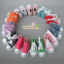 7.5cm Canvas Shoes For BJD Doll Toy 1/4 Mini Doll sneakers Shoes for 16 Inch Sharon doll Boots(China)