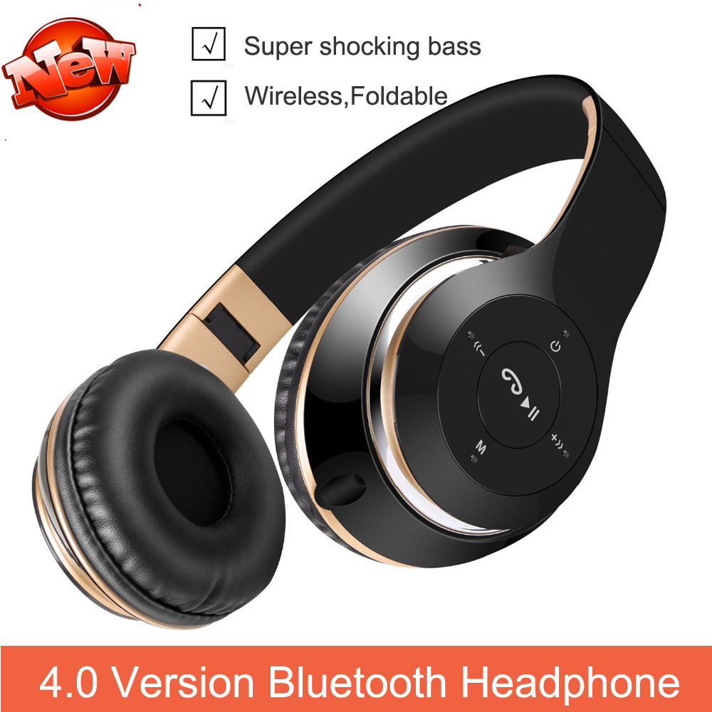 2017 New 4.0 Wireless Bluetooth Headset Support FM Radio Micro SD TF Card for Samsung Galaxy note 2/5/4 High Quality Auriculares<br><br>Aliexpress