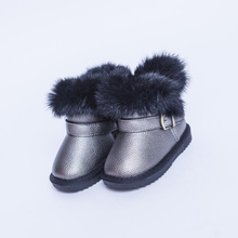 Fashion Winter Children Shoes Girls Boots Warm toddler Baby Snow Boots rabbit fur shoes girls casual kids shoes boot top quality