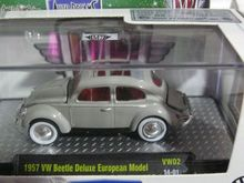 M2 1:64 1957 VW Beetle Deluxe European boutique alloy car toys for children kids toys Model Original box freeshipping(China)