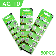 100% Brand New 50 Pcs/lot Hot AG10 G10A SR1130 LR1130 390A D189 LR54 Alkaline Battery Button Cell Coin EE6251
