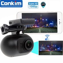 "Car DVR Camera Mini 0903/nanoq WIFI Car DVR GPS Recorder 1080P 30fps NT96655 Dash Camera 1.5"" WDR Super Capacitor Parking Guard"