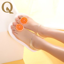 New Listing Summer Beach Women Sandals Lovely Personalized Fruit Orange Pattern Women Shoes Comfortable High Quality Jelly Shoes