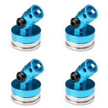 4pcs 1/10 Blue Alloy Magnetic Stealth Invisible Body Post Mount RC Car Boat Crawler(China)