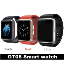 Bluetooth Smart watch GT08 Smartwatch phone with SIM TF Card Camera Sport Fitness Tracker WirstWatch for Android phone