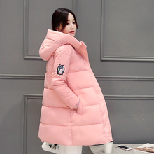 Orwindny Winter Coat Women 2017 New Slim Fashion Cotton-padded Jacket Size S-2XL Outerwear Parka Long Thick Wadded Clothing(China)
