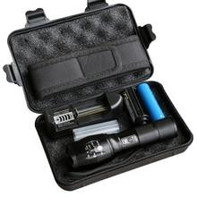 LED Police Flashlight CREE XML-T6 Focus Adjustable Zoomable Aluminum Lanterna 5 Modes Torch Waterproof AAA 18650 Portable Light