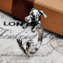 Greyhound Dog Rings Wedding Animal Ring Men Best Friend Gift Anel Jewelry Antique Silver