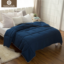 Naturelife Warm New Full Filling Duvet High Quality Navy Plaid Down Duet Breathable Down Comforter Edredom Futon(China)