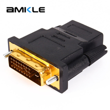 Amkle HDMI to DVI 24+1 Adapter Female to Male 1080P HDTV Converter for PC PS3 Projector TV Box(China)