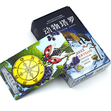 Animal Totem Tarot Board Game 78 PCS/Set New Design Cards Game Chinese/English Edition Tarot Board Game For Family(China)